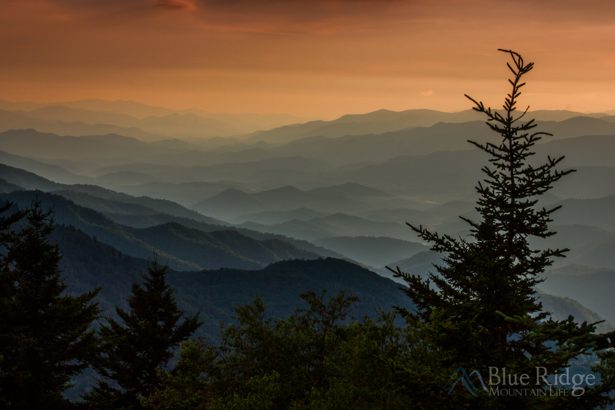 Sunset at Waterrock Knob on the Blue Ridge Parkway