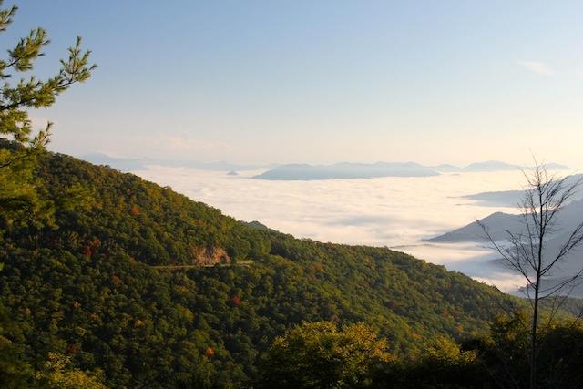 Blue Ridge Parkway Fall Foliage Mist