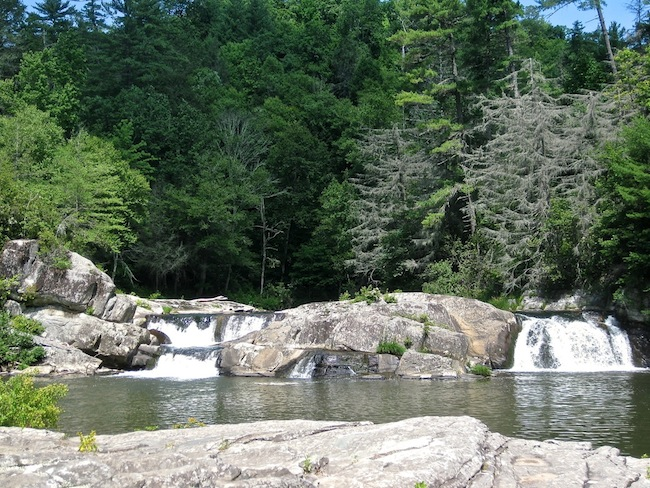 Linville Falls - Twin Falls
