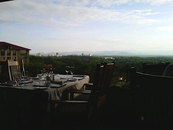 Our table at the sunset terrace just before sitting down you can see