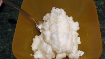 Maple Snow Cream Recipe Featured