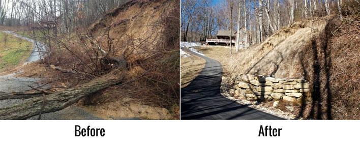 Mudslide Before After