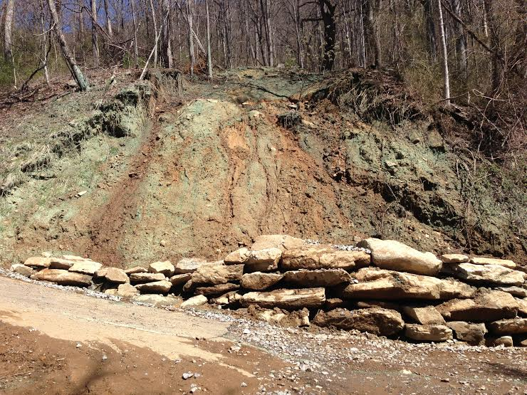 Mudslide repairs completed