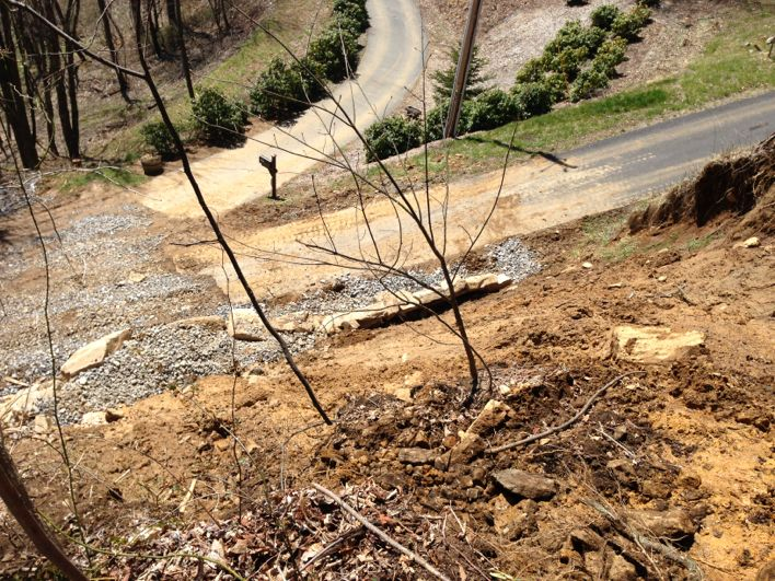 Mudslide from the top