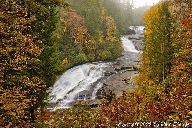 Fall at Triple Falls Dupont State Forest