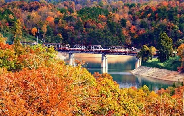 Great Smoky Mountains Railroad Fall
