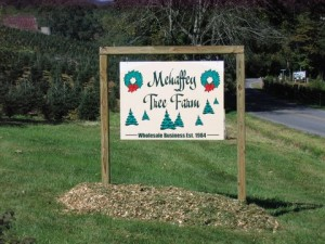 Mehaffy Tree Farm Sign
