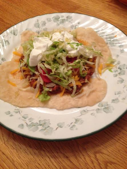 Cherokee indian taco recipe blue ridge mountain life cherokee indian taco recipe forumfinder Choice Image