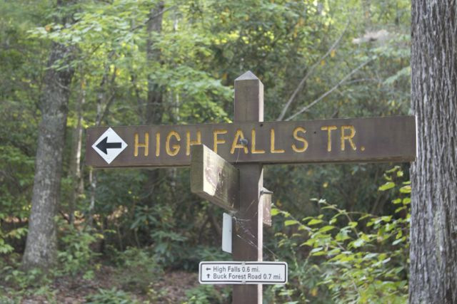 High Falls Trail Sign