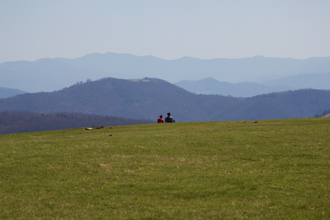 Young couple at Max Patch