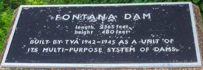 Fontana Dam Plaque