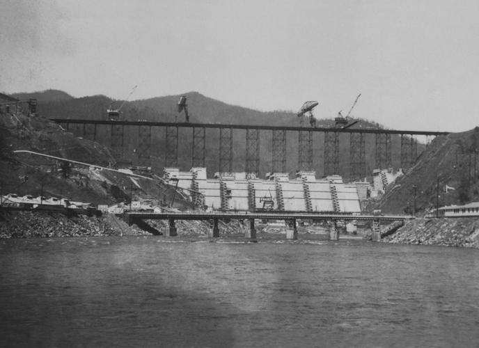 Fontana Dam Construction