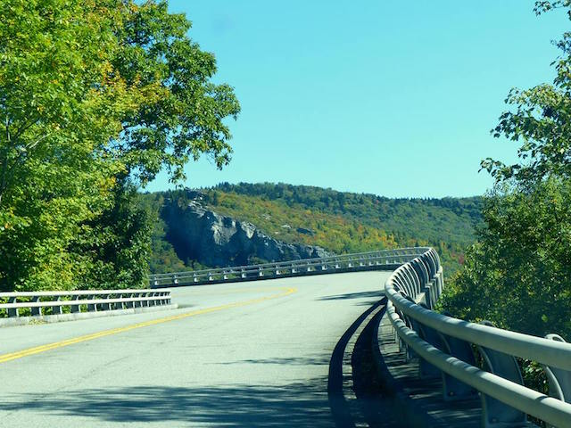 Driving across Linn Cove Viaduct