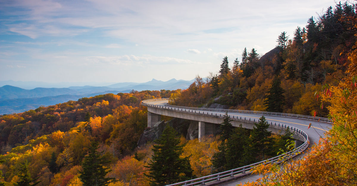 Linn Cove Viaduct Blue Ridge Parkway Blue Ridge Mountain