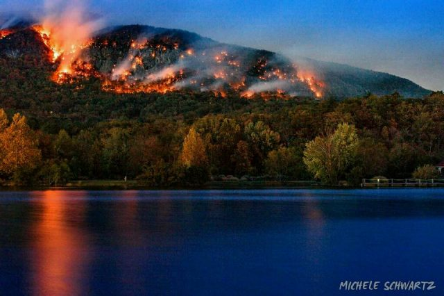 Lake Lure Forest Fire