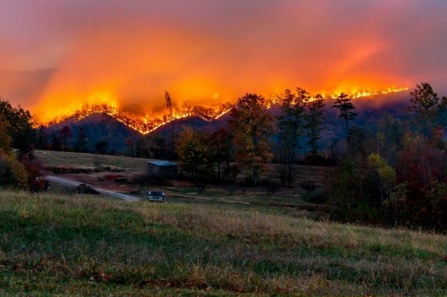 South Mountain State Park Fire