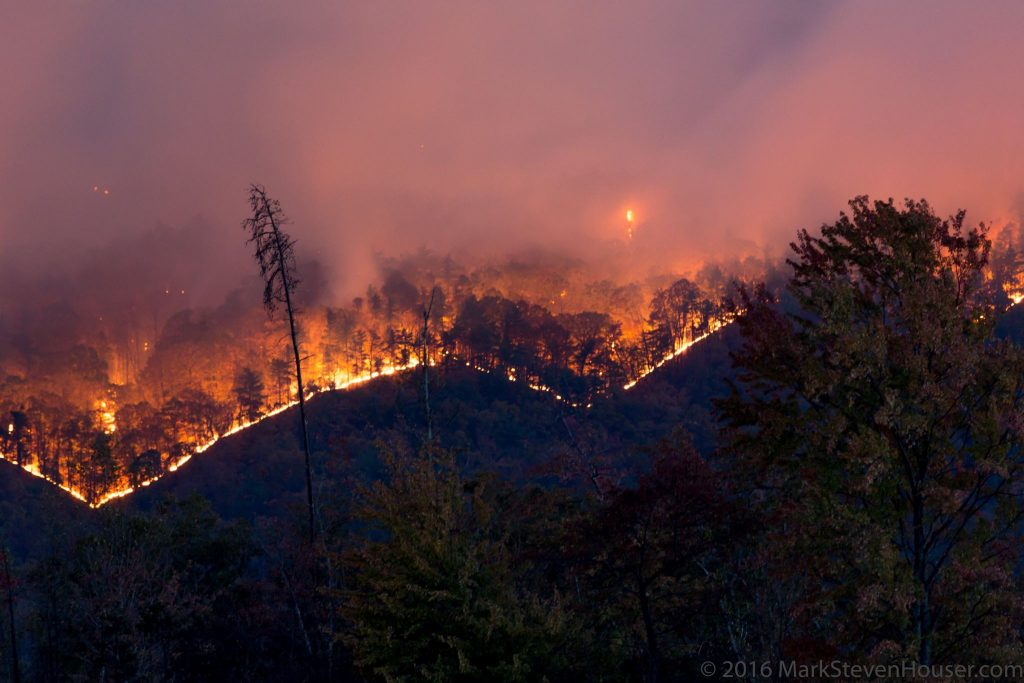 Forest Fires in Western NC November 2016 - Blue Ridge Mountain Life