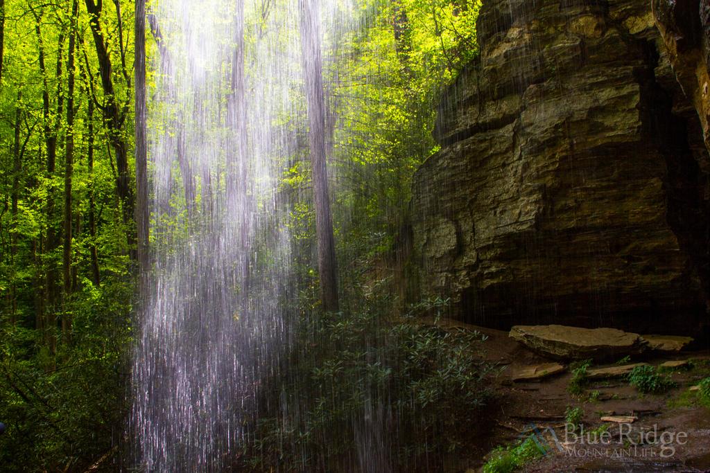 Behind Moore Falls