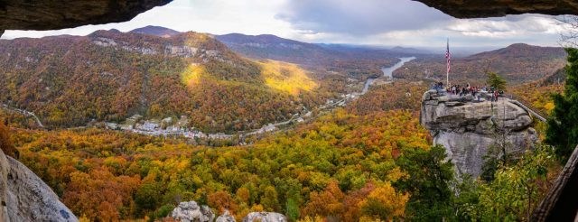Fall at Chimney Rock NC