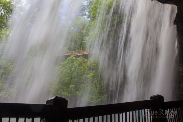 Dry Falls NC Behind the falls