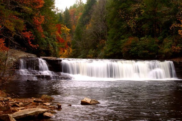 Hooker Falls Dupont State Forest NC