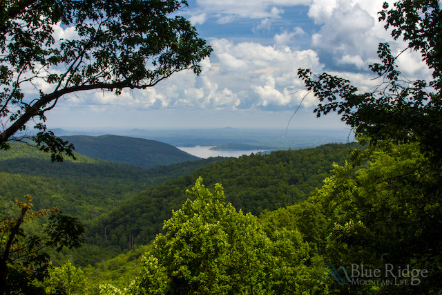 Whitewater Falls NC Lake View