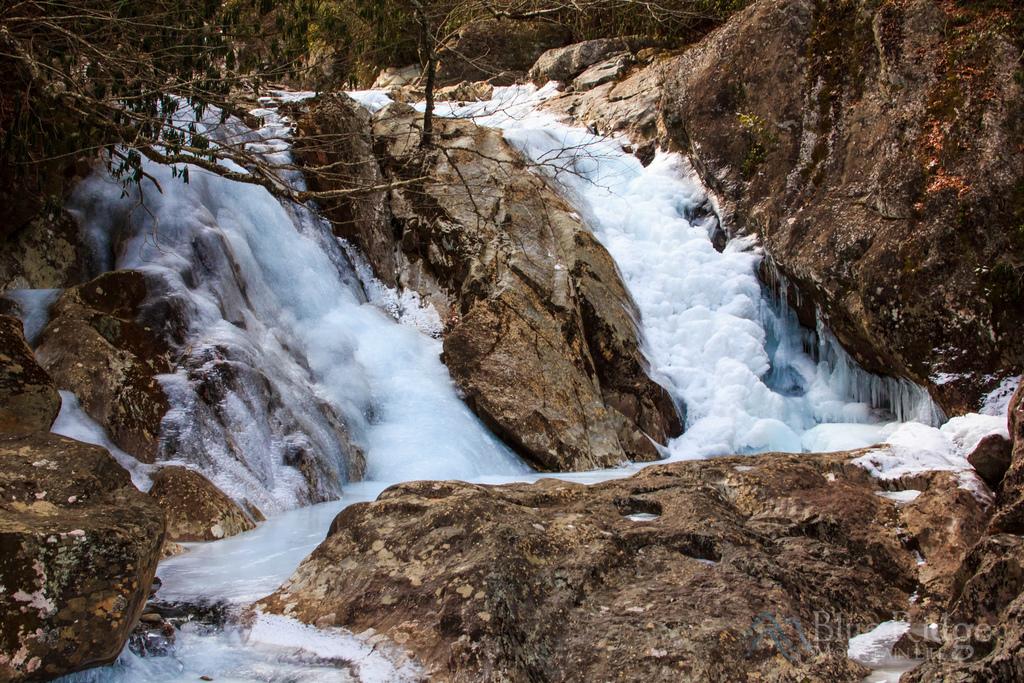 Frozen Sunburst Falls