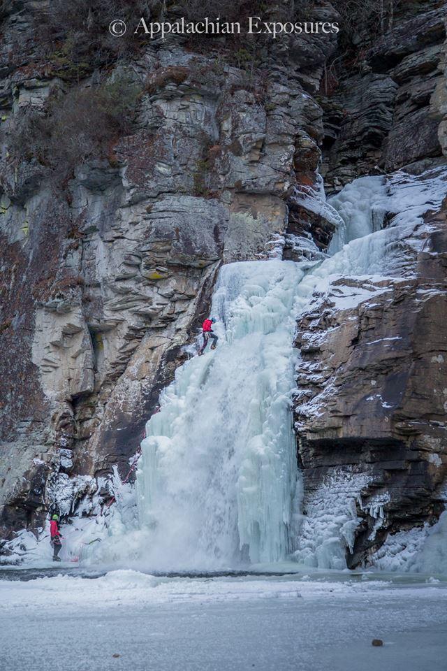 Frozen Linville Falls