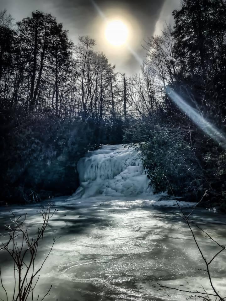 Frozen Schoolhouse Falls, NC