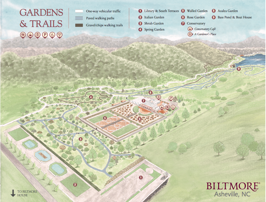 Biltmore Estate Garden Map