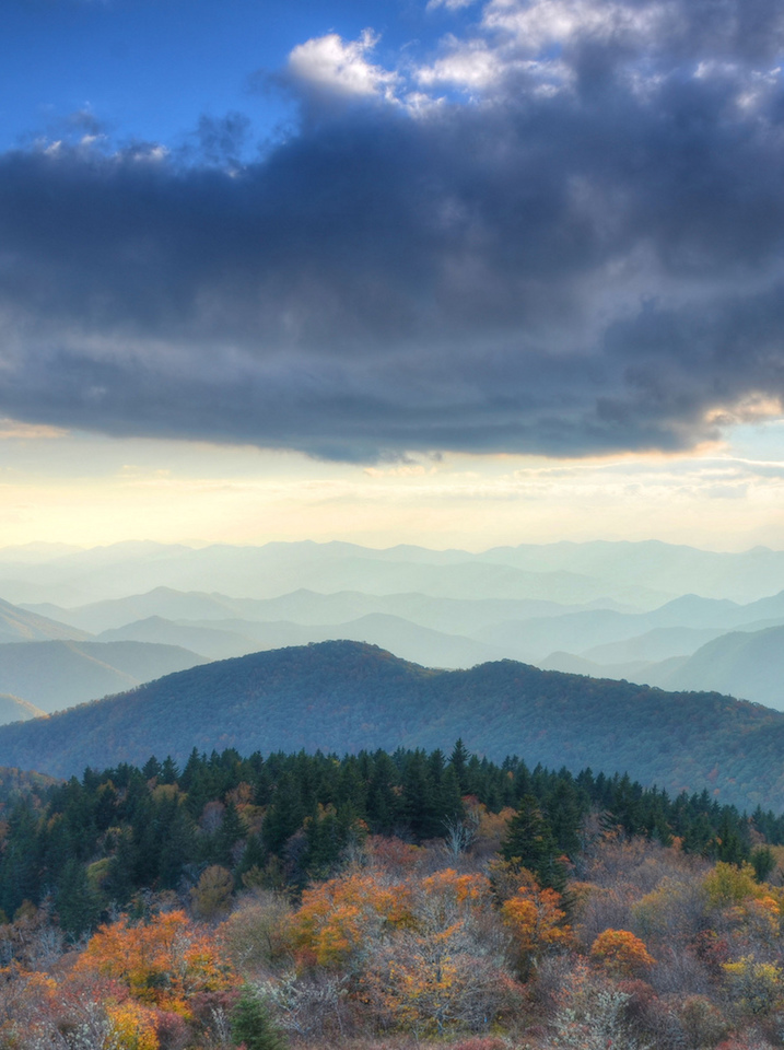 Fall Cowee Mountain Overlook Blue Ridge Parkway