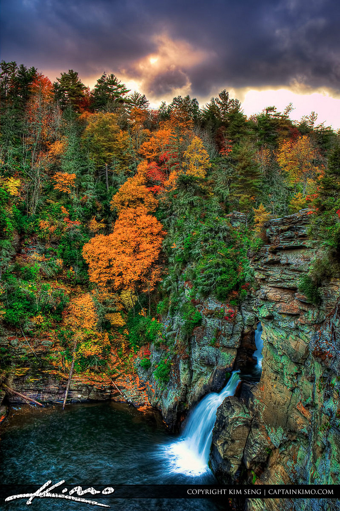 Fall at Linville Falls