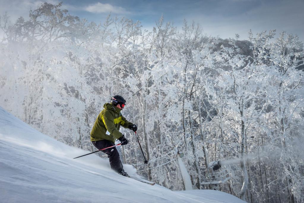 Skiing the Blue Ridge Mountains