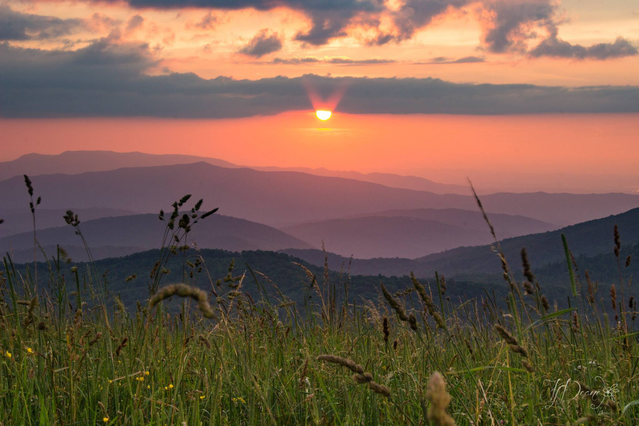 Sunset at Max Patch NC
