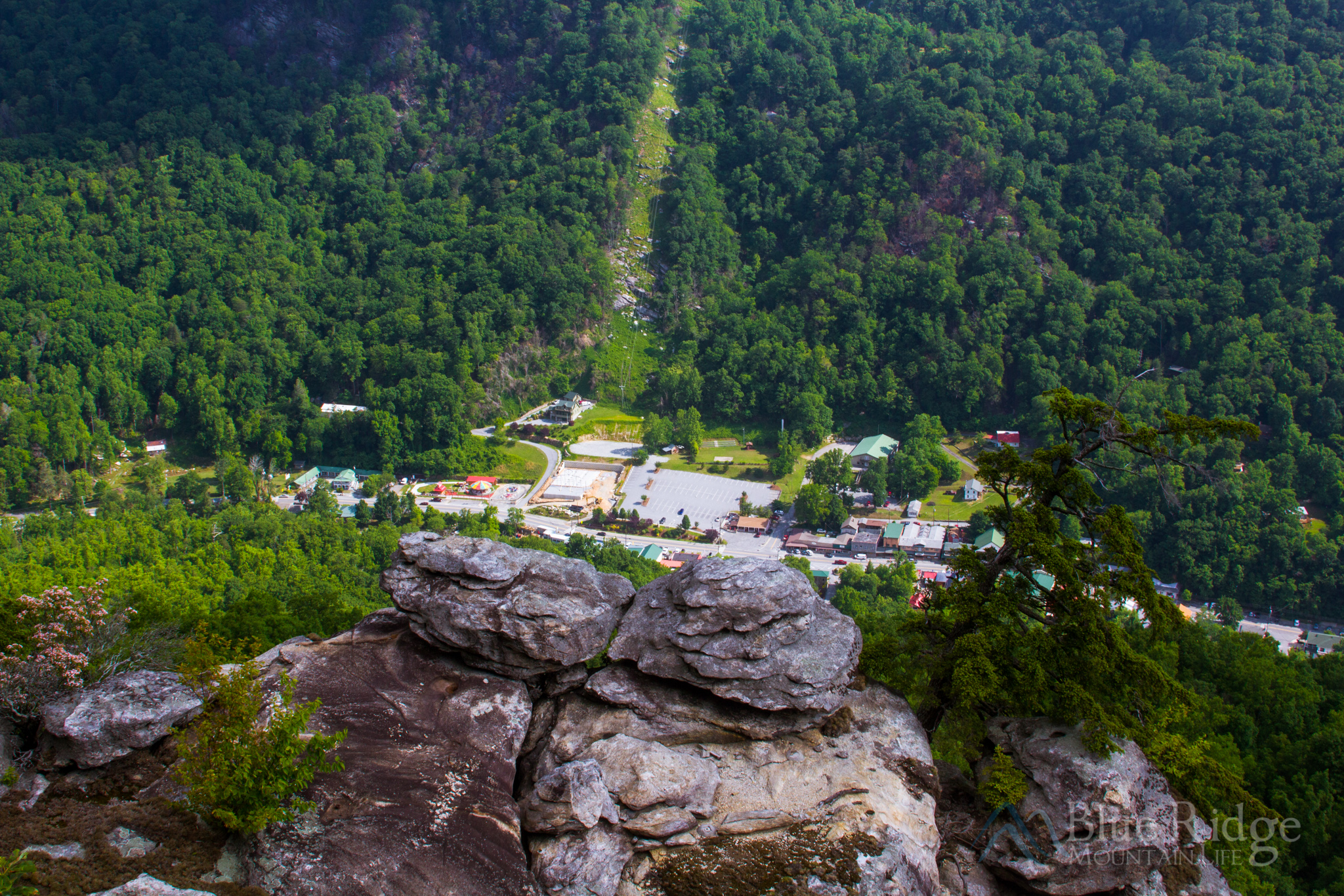 View of Chimney Rock Village from Chimney Rock