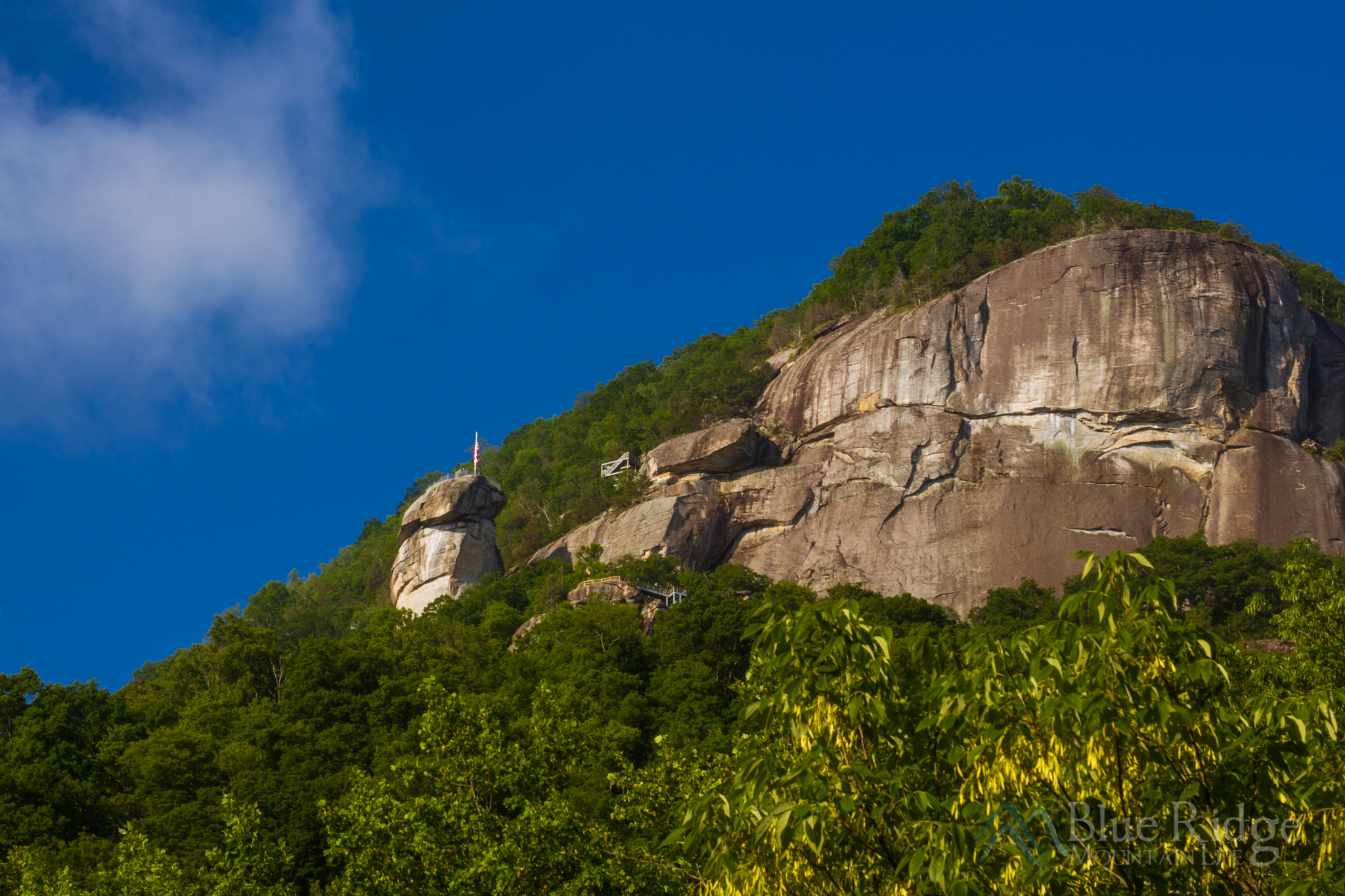 Chimney Rock State Park, viewed from the town of Chimney Rock