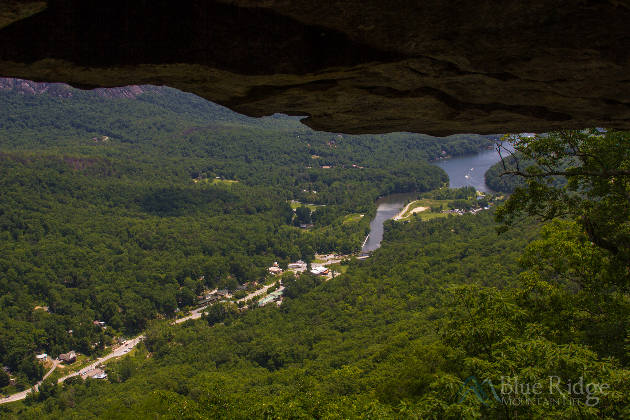 View from the Grotto at Chimney Rock State Park