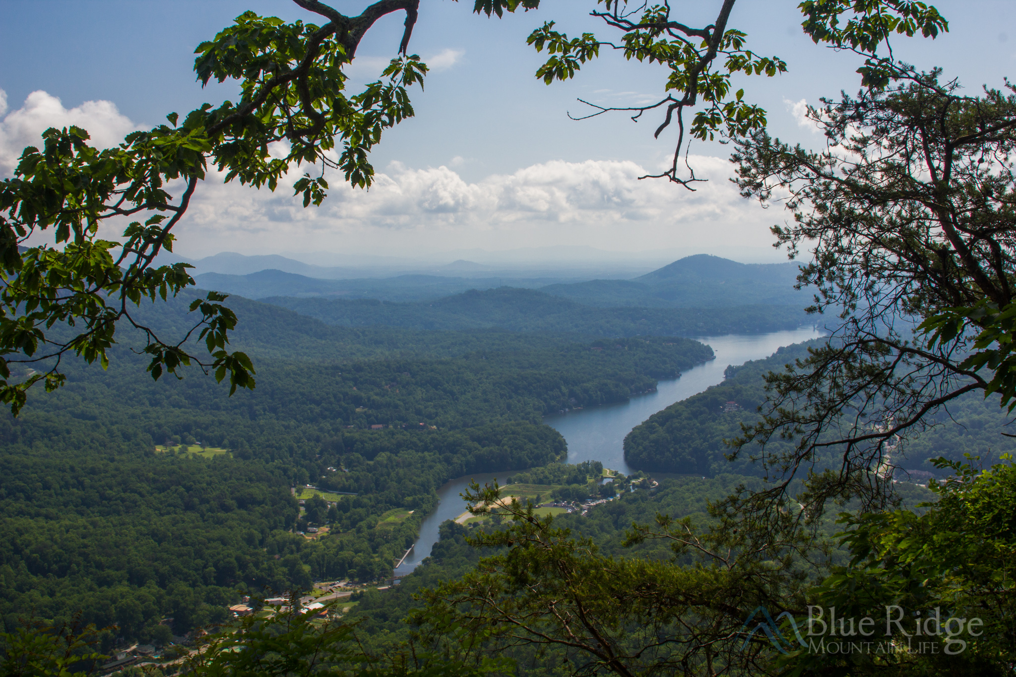 View from Skylounge at Chimney Rock State Park