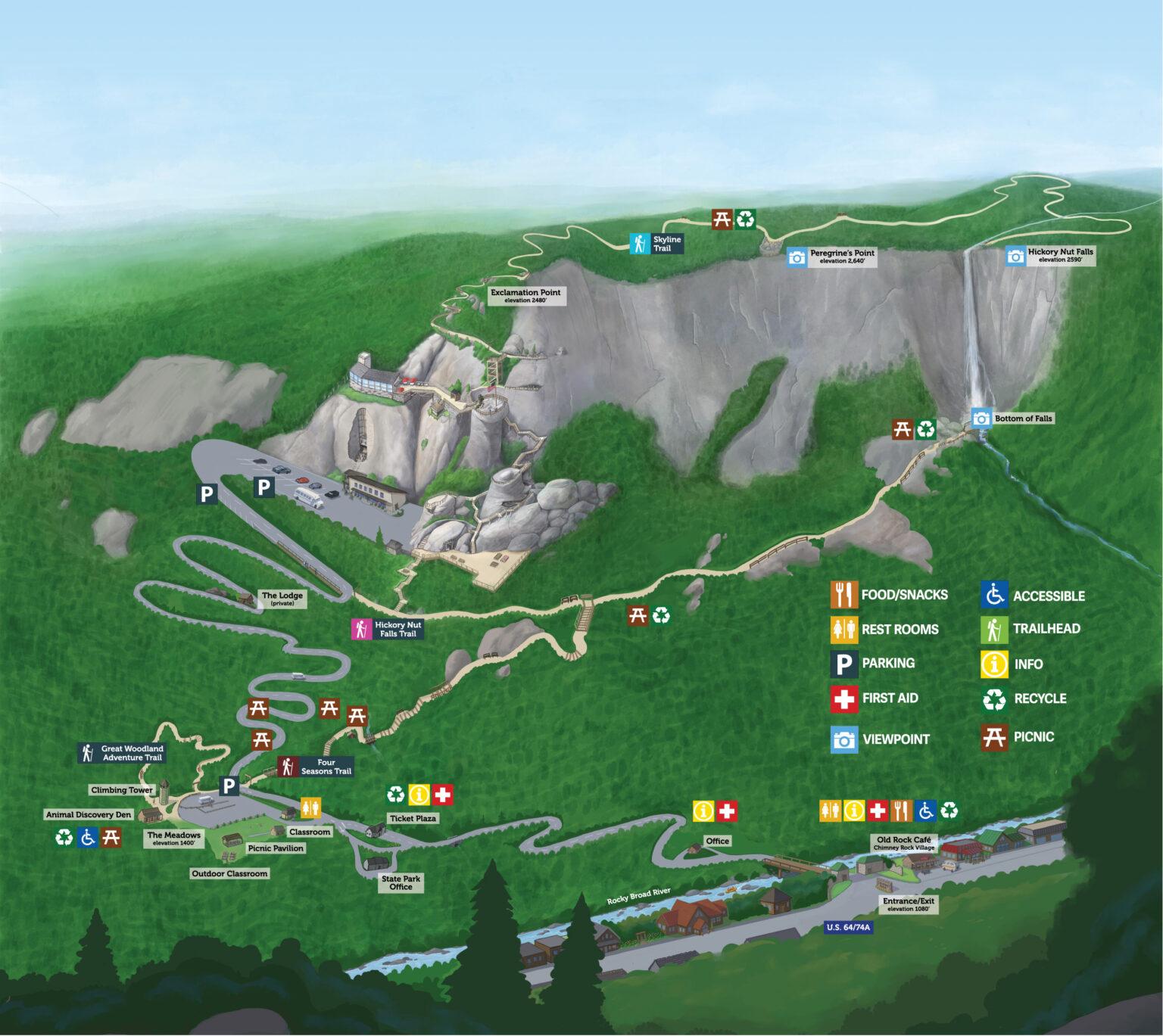 Chimney Rock Trail Map